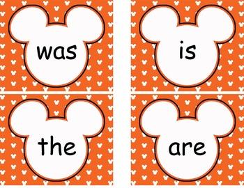 Complete Mickey themed Word Wall Bundle **** Orange