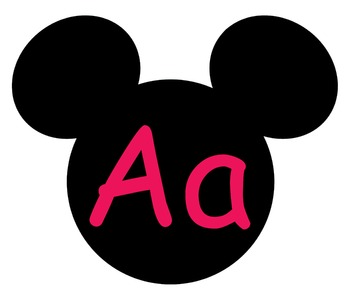 Complete Mickey themed Word Wall Bundle **** Pink