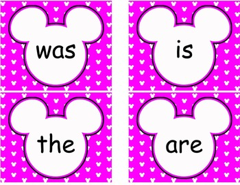 Complete Mickey themed Word Wall Bundle **** Purple