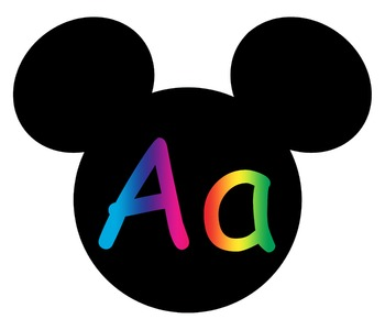 Complete Mickey themed Word Wall Bundle **** Rainbow
