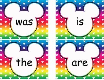 Complete Mickey themed Word Wall Bundle **** Rainbow