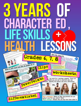 Complete Middle School Character Education, Health, Life and Social Skills