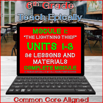 Complete Module 1 ELA-Vate Utah- Units 1, 2, and 3- The Lightning thief
