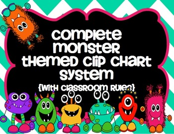 Complete Monster Themed Clip Chart System