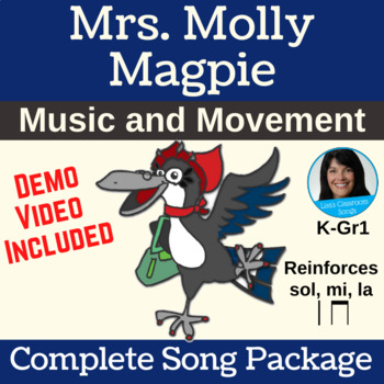 "Free Movement Classroom Song | ""Mrs. Molly Magpie"" 