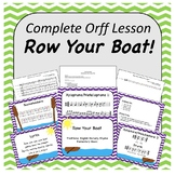 Complete Orff Music Lesson - Row Your Boat