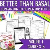 NO PREP Reading & Writing Units for 40 Mentor Texts (Vol 1