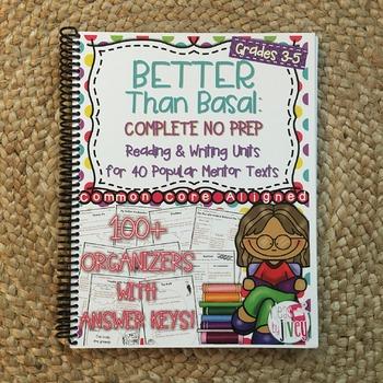 NO PREP Reading and Writing Units: Vol 1 Better Than Basal HARD COPY Book