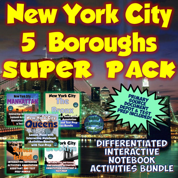 Complete NYC 5 Boroughs Interactive Notebook and Lapbook A