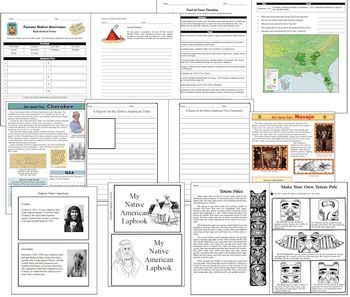 Complete Native American Unit (190 pgs Multiple levels/ages)