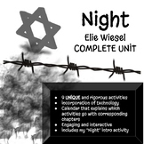 "Complete ""Night"" by Elie Wiesel Unit"