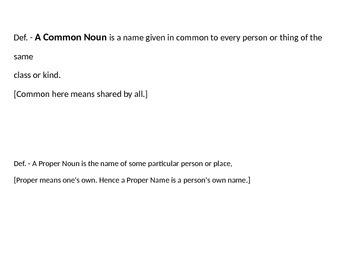 Complete Nouns