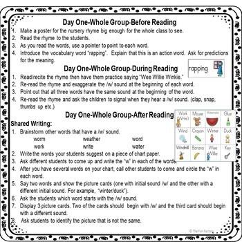 Complete Nursery Rhyme Lesson Plan Bundle – Sampler