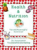 Complete Nutrition Unit Materials - Grades 2,3,4 (The Walshie Workshop)