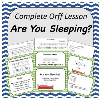 Complete Orff Music Lesson - Are You Sleeping?