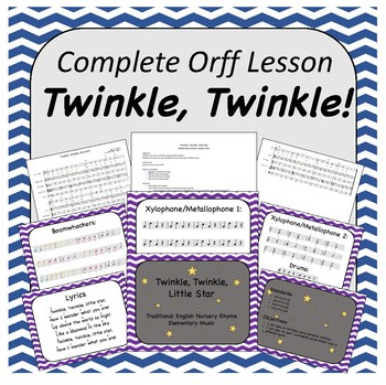Complete Orff Music Lesson - Twinkle, Twinkle, Little Star