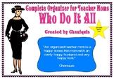 2017-2018 Back to School teacher/mom organizer