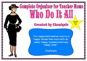 Back to School teacher/mom organizer