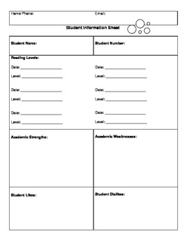 Complete Teacher Information Organizing Packet