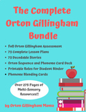 Orton Gillingham Activities BUNDLE All Levels 275+ Pages &