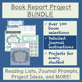 Book Report Project Bundle: Reading Lists, Journal Activit