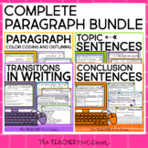Paragraph Writing Bundle Print and Digital Google Classroom™  Distance Learning