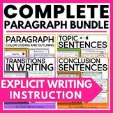 Paragraph Writing Bundle Print and Digital Google Classroom™