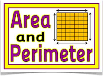 Complete Perimeter and Area Unit 3rd grade