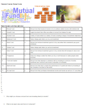 Complete Personal Finance Unit including Activities/Handouts & Test PBL