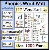 Phonics Word Wall Bundle: Short Vowels, Long Vowels, Blends