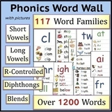 Complete Phonics Word Wall: Short Vowels, Long Vowels, Blends(Distance Learning)
