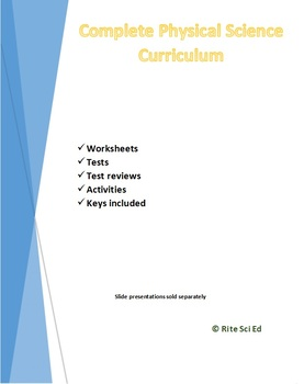 Complete Physical Science Curriculum