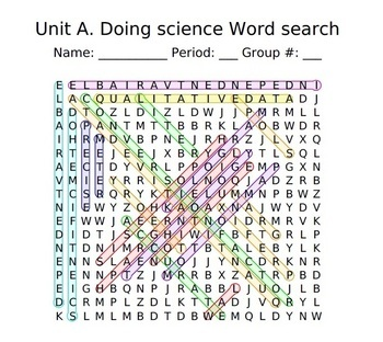 Complete Physical Science Word Search