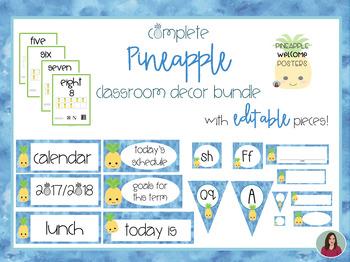 Complete Pineapple Decor Bundle with EDITABLE pieces! ~~ 280+ Pieces! ~~