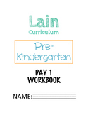 Complete Pre-Kindergarten Homeschool Curriculum (DAY 1)