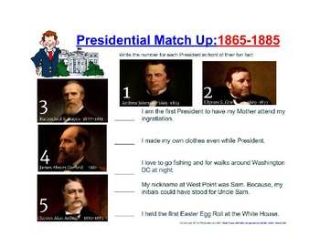 Complete Presidential Match Up Set for Unit Study
