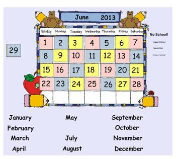 Complete Primary Calendar Activities for SMART Board