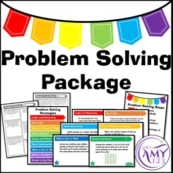 Problem Solving Package- Posters, PowerPoints and Task Cards