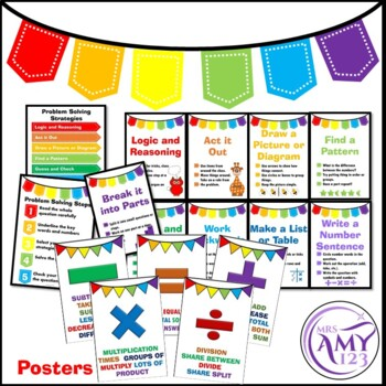 Problem Solving Bundle- Posters, PowerPoints and Task Cards