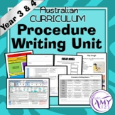 Procedure Unit -Year 3 and 4- Aligned with ACARA