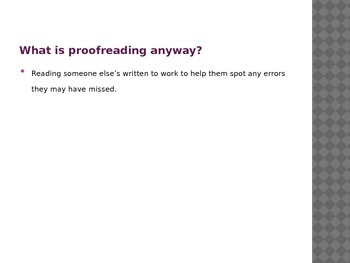 Complete Proofreading Lesson