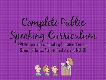 Complete Public Speaking Curriculum