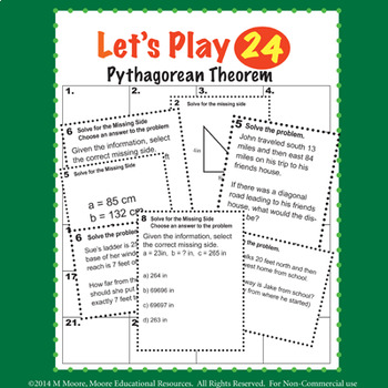 Pythagorean Theorem Ultimate BUNDLE with Power Point