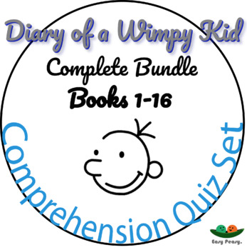 Complete Quiz Collection for Diary of a Wimpy Kid - 12 Books - 132 Quizzes