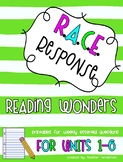 Complete Reading Wonders Third Grade Unit  1-6 Bundle RACE Strategy