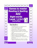 Complete Reading and Spelling Sight Word Games Level 1,2 & 3