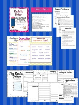 Complete Realistic Fiction Writing Unit, Lessons & Printables