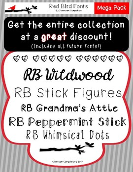 Complete Red Bird Font Collection *Growing Bundle!*