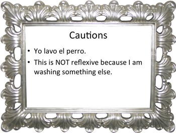 Complete Reflexive Verbs Power Point