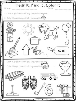 Complete Rhyming Bundle--Rhyme Assessment, Activities, and Printables